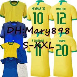 Wholesale neymar shorts for sale – designer Adult Kids brazi Player Copa America Home soccer jersey away NEYMAR JR COUTINHO PAULINHO camiseta de futbol football shirt