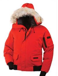 Warmest Goose Down Parka Australia - wholesale Fashion Overcoat Mens Winter Warm Coat Goose Chilliwack Bomber Goose Down Jacket Bomber Parka Real Coyote Fur Black Label Women's