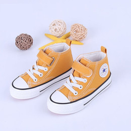 toddler boys canvas white NZ - Children Canvas Shoes Girls Sneakers High top Boys Winter Shoes Breathble Autumn Winter Fashion Kids Casual Shoes Toddler Boots