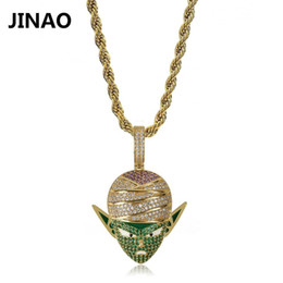 $enCountryForm.capitalKeyWord Australia - Jinao Hip Hop Jewelry Dragon Ball Iced Out Chain Anime Piccolo Pendant Cubic Zircon Personalized Necklace For Christmas Gifts J190625