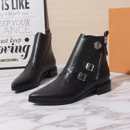 Womens Cowboy Ankle Boots Australia - 2019 New Designer Women Jumble Ankle Boots Black Brown Suede Leather Womens Dress Boot 19ss Fashion Casual Boots With Box
