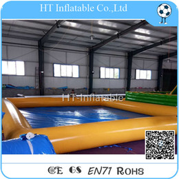 large inflatable pools NZ - Free Shipping 6x6m 2020 Large PVC Rectangular Removable Inflatable Swimming Pool for Kids and Adults Commercial Inflatable Water Pool
