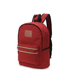 red satchel backpack for kids NZ - DFSY new children school bags for teenagers boys girls canvas school backpack waterproof satchel kids book bag