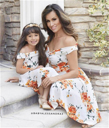 269883d587 Ins new Summer Mother and Daughter Clothes party Girls Dresses mother  daughter Beach Dresses mommy and daughter matching Dresses A4555
