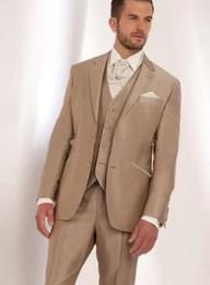 $enCountryForm.capitalKeyWord Canada - New Stylish Design Two Buttons Champagne Wedding Groom Tuxedos Notch Lapel Groomsmen Mens Dinner Blazer Suits (Jacket+Pants+Vest+Tie) 488