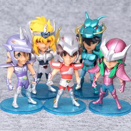 $enCountryForm.capitalKeyWord Australia - 5pcs  Set 10cm Saint Seiya Action Figures Knights Of The Zodiac Doll Janpaness Anime Cartoon Toys Kids Christmas Gifts