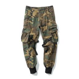 $enCountryForm.capitalKeyWord UK - New Arrival Mens Pants Fashion Camouflage Jogging Pants Zipper Overalls Beam Foot Trousers Men's Casual Joggers Pants