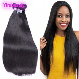 $enCountryForm.capitalKeyWord Australia - Brazilian Human Virgin Hair Straight 30inch To 40inch Wholesale Long Hair Bundles 2 Pieces lot Straight Double Wefts Human Hair Weaves