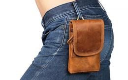 $enCountryForm.capitalKeyWord UK - 2019 New Crazy Horse skin Mobile phone bag inch leather men's bag head layer cowhide retro belt hanging bag wholesale