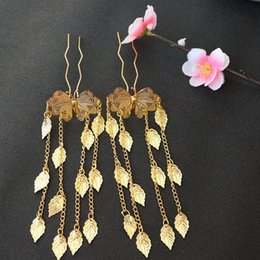 Chinese Hairpins Australia - Headwear Hair Accessories Butterfly Tassels Hairpin Vintage Headdress Chinese Style Hair Clip Golden Inserted Comb