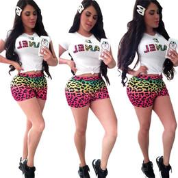 $enCountryForm.capitalKeyWord Australia - Women Designer Tracksuits Fashion Summer CHAN Letter Print 2 Pieces Sets Tight T-shirt+shorts Leggings Bodyuit Brand Outfit Sportwear C62404