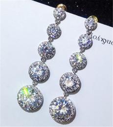$enCountryForm.capitalKeyWord Australia - 2019 choucong Fashion Long Long Drop earring Diamond 925 Sterling silver Engagement Wedding Dangle Earrings for women jewelry Free Shipping