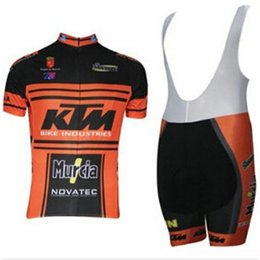 Bicycle Sales Australia - Hot Sale KTM 2019 Cycling Clothing Men Set Bike Clothing Breathable Anti-UV Bicycle Wear Short Sleeve Cycling Jersey Sets