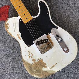 $enCountryForm.capitalKeyWord UK - New TL Electric Guitar white body Black binding Maple Fretboard Chinese Custom Shop in stock
