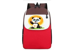 cream school NZ - Book Bag for School Children Kids School Backpack Boys Girls Cartoon Animal Print Knapsack Kids Satchel Space Bags
