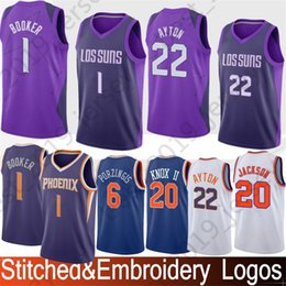 88df7d8a6 New York 6 Porzingis Knicks Jersey 20 Kevin Phoenix Knox 1 Devin Suns  Booker 20 Jackson Josh 22 DeAndre Stitching Ayton