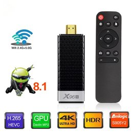 amlogic hdmi stick 2019 - 4GB 32GB X96S 4K TV Stick Android 8.1 Amlogic S905Y2 Quad Core 2.4G&5GHz Dual Wifi BT4.2 4K TV Dongle