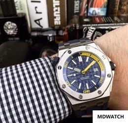 $enCountryForm.capitalKeyWord Australia - Luxury fashion Classic Rubber Strap High Quality Automatic Wristwatch 43MM Stainless Steel case men Watch(blue,yellow,green,orange)