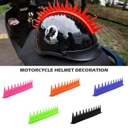 Men head crown online shopping - New Motorcycle Rubber Half Helmet Full Face Helmets Crocodile Fin Chicken Crown Head Men And Women Personality Decoration