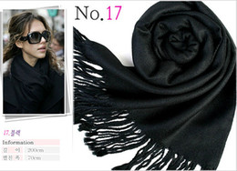 cashmere fashion solid pashmina scarf Australia - 40 Colors Hot Pashmina Cashmere Solid Scarves Soft Shawl Wrap Fashion Women's Girls Scarf Soft Fringes Solid Ladies Designer Scarf