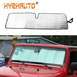 HYZHAUTO Parabrisas Parasol Cortina Para Jeep Wrangler JK Protección Sun Shield Cubierta Accesorios de Coche UV Rayos Protector 1 UNIDS en venta