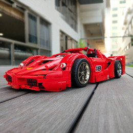 ElEctric kids car online shopping - 13085 remote control electric APPMOC technology F Laley FXX red sports car car assembly building blocks toys