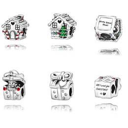 pandora christmas charms Australia - 925 Sterling Silver loose Beads Christmas Charms fit Original Pandora Bracelets Necklaces Women DIY Jewelry snow House snowman 2019 Winter