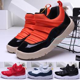 $enCountryForm.capitalKeyWord Australia - Lovely 11 11S Low Kids Shoes For Boys Girls Sneaker Win Like 96 72-10 Snake Navy Snakeskin Leather Boby Basketball Shoes Size 22-35