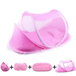 $enCountryForm.capitalKeyWord Australia - 2019 Home Palace Mosquito Net Baby Bedding Crib Netting Folding Baby Mosquito Nets Bed Mattress Pillow Four-piece Suit For