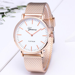Wholesale New Fashion Men Gold Watch Women Men Famous Brand Minimalist Silicone Mesh Simple Geneva Watch Women Mesh Cool Quartz Watch
