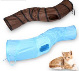 Wholesale Pet Funny Toy Foldable S Shape Pet Cat Tunnel Play Tubes Balls Crinkle design House Toys Puppy Rabbit Play Dog Tunnel Tubes