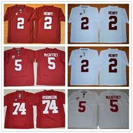 91dda52f6 High Quality Men NCAA jersey Derrick Henry Alabama Crimson Tide 2 Derrick  Henry Jersey Red white College football jerseys free shipping