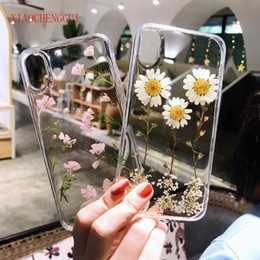 $enCountryForm.capitalKeyWord Australia - Real Flowers Dried Flowers Soft Tpu Back Cover For Iphone X 6 6s 7 8 Plus Case Transparent Phone Case For Iphone X Cover