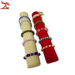 Jade bangle quality online shopping - Quality Velvet Bracelet Watch Accessory Storage Rack Fine Linen Jade Bangle Watch Bead Chain Necklace Jewelry Organizer Holder Bar Stand