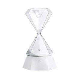 China Colorful USB Diamond Hourglass Tactile Night Lamp Tabletop Decorations Valentine's Day Gift Light supplier night light video suppliers