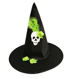 gothic toys Australia - New Halloween Children Toys Gift Adult Prom Party Witch New Halloween Pointy Hat Party Costume Props Non-Woven Golgo Artificial Flower Feath