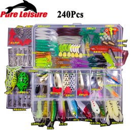 Spoons Fishing Lures Australia - 2018 New Fishing Lures Set 15 24 94 240pcs Minnow Pilers Spoon Hooks Fish Lure Kit In Box Isca Artificial Bait Fishing Gear