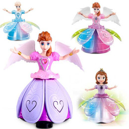 Rotating dance lights online shopping - 2019 Hot Sell New degree electric dance princess light music rotating angel children s toy best present of Christmas