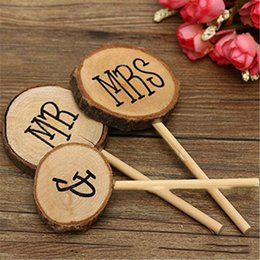 $enCountryForm.capitalKeyWord Australia - 3pcs MR Mrs Rustic Wedding Cake Topper Engagement Wooden Cake Stick Topper Wood Letters Decorations Anniversary Party Decor