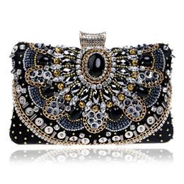 $enCountryForm.capitalKeyWord Australia - Elegant Ladies Evening Clutch Bag with Chain Diamond Crystal Stone Shoulder Bag Women's Handbags Purse Wallets for Wedding