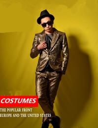 $enCountryForm.capitalKeyWord Australia - men gold suits wedding groom prom dancer singer dress performance show nightclub clothing Outdoors wear bar party dsy052