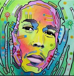 Chinese  Bob Marley Oil Painting On Canvas Pop Art Reggae Star Portrait Music Home Decor Handpainted &HD Print Wall Art Canvas Pictures 191031 manufacturers