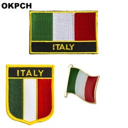 $enCountryForm.capitalKeyWord UK - Italy flag patch badge 3pcs a Set Patches for Clothing DIY Decoration PT0206-3