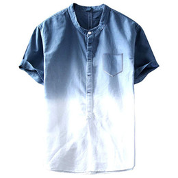 Wholesale line shirt online – design Line Tie Dyed T SHIRTS Summer Fashion Pockets Designer Casual Beach Hombres Tees Mens