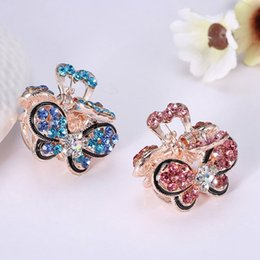 d5fa2840c31ee 1pc Women Vintage Crystal Rhinestone Mini Butterfly Crown Hairpins Claws  Hair Clips Barrettes Hair Accessories