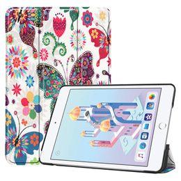 $enCountryForm.capitalKeyWord Australia - Painted Folio Flip PU Leather Case for Apple iPad Mini 4 Mini 5 Tablet Smart Cover with Auto Sleep Wake UP Function +Stylus