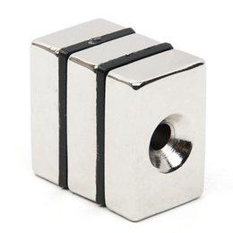 Magnet cuboid online shopping - rare earth Hakkin Block N52 Rectangular Cuboid Rare Earth Neodymium Permanent Magnet Very Powerful Acoustic Field Speaker