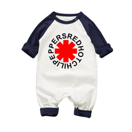 $enCountryForm.capitalKeyWord UK - Baby Boy Romper 2017 Spring Baby Girl Clothing Sets Red Hot Chili Peppers Print Newborn Infant Long Sleeve Jumpsuits 100% Cotton Y19061201