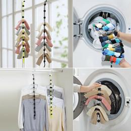 $enCountryForm.capitalKeyWord Australia - Home Socks Hanging Rope Creative Multi-function Washing Clothes Basket Net