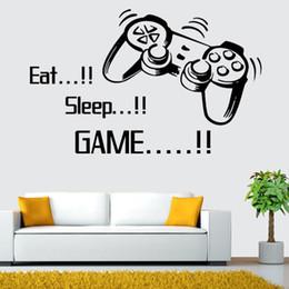 $enCountryForm.capitalKeyWord Australia - EAT SLEEP GAME Creative Gamer Wall Decal Viny Gaming Joysticker Wall Sticker Murals for Living Room Bedroom Play Room Decoration